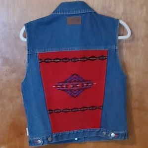 Womens Pendleton Jean Vest with Wool Accents